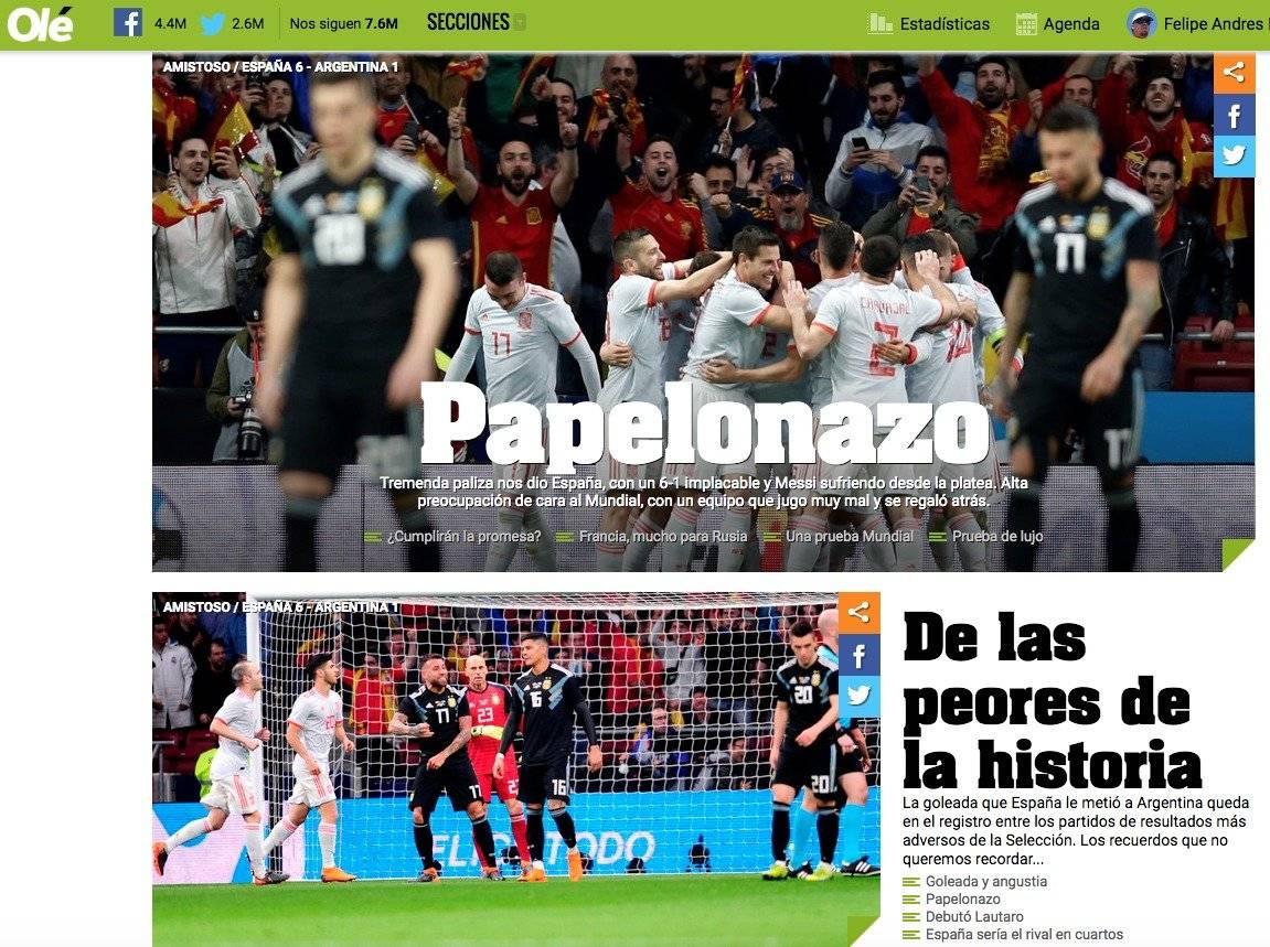 Diario Olé de Argentina