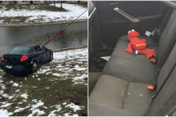 héroe salva a hija de estanque congelado