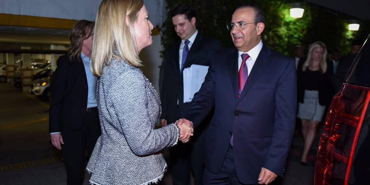 Navarrete y Nielsen acuerdan combatir delincuencia organizada