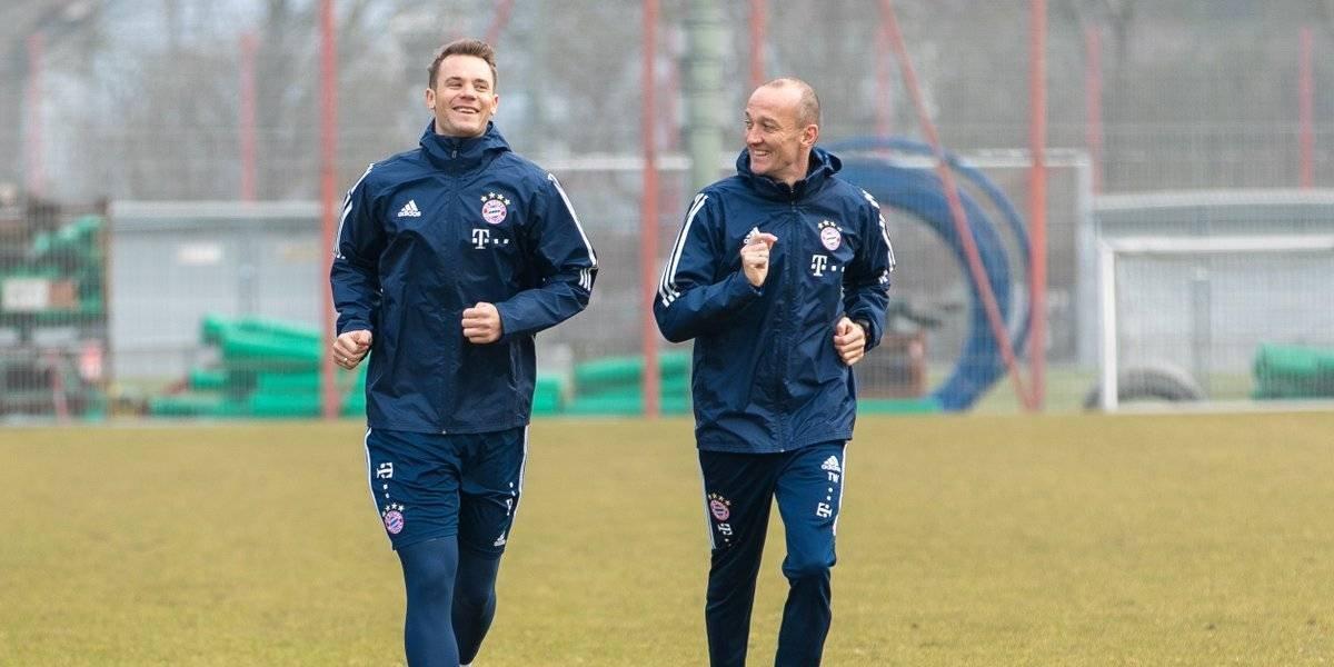 Manuel Neuer regresa a los entrenamientos con el Bayern