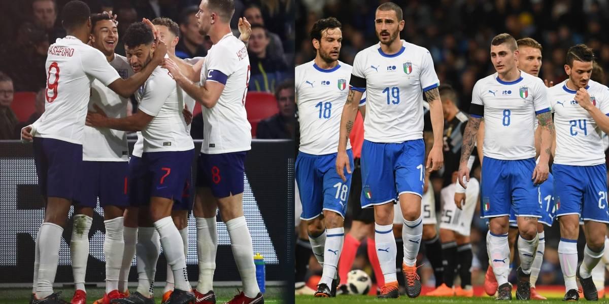 Inglaterra VS Italia, choque de históricos con nuevas generaciones