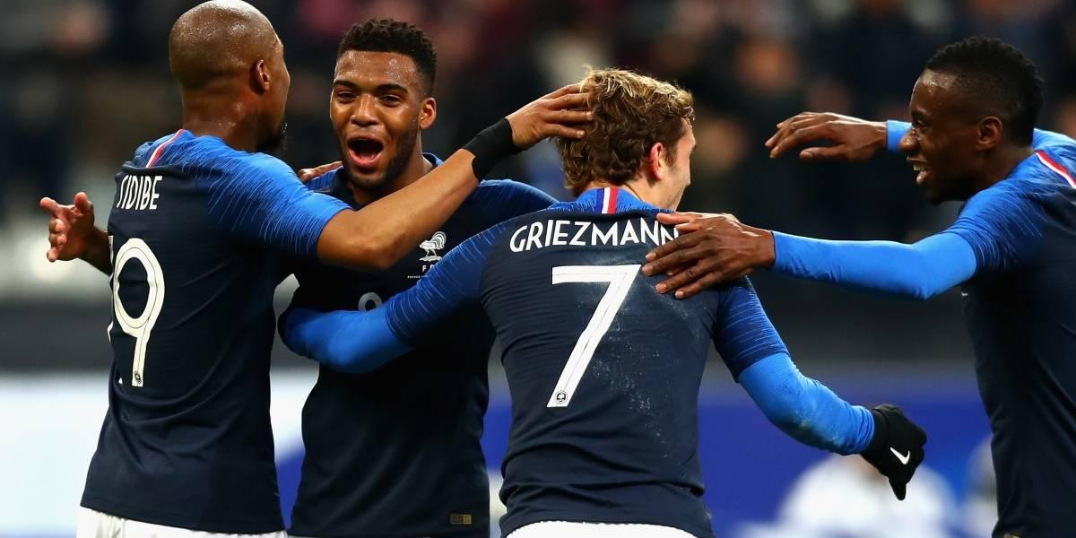 Rusia recibe a una selección de Francia bastante herida