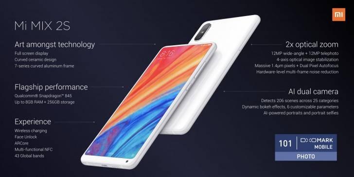 Xiaomi oficializa su nuevo gama alta Mi Mix 2s, ahora con doble cámara