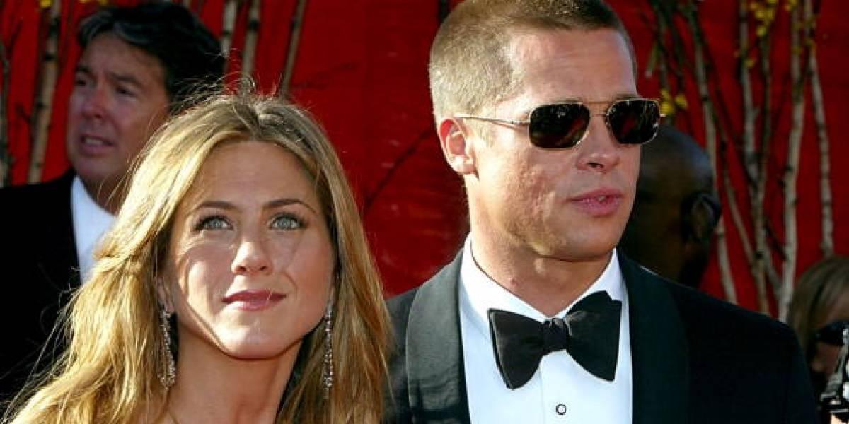 Revelan la verdad detrás del apasionado beso entre Jennifer Aniston y Brad Pitt