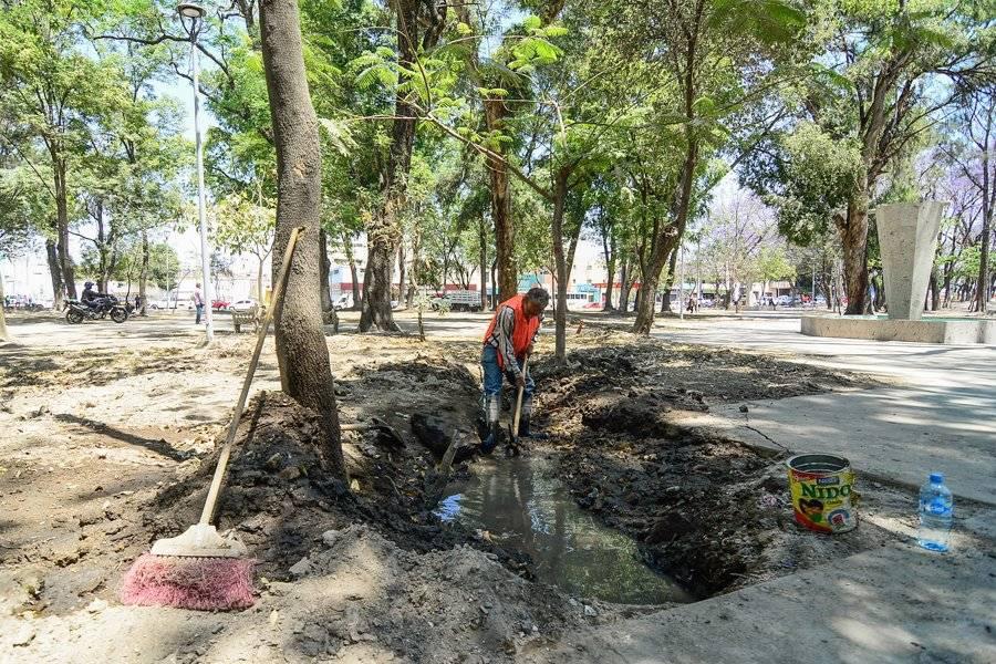 Inconforman las obras en el Parque Morelos