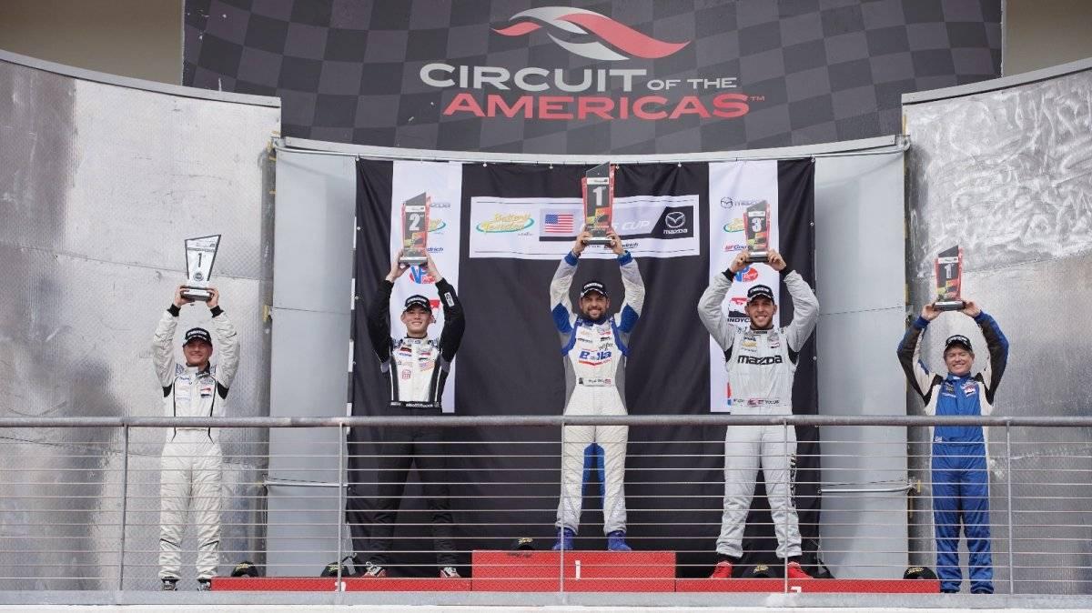 Bryan Ortiz conquista primera ronda del Mazda Global MX-5 Cup