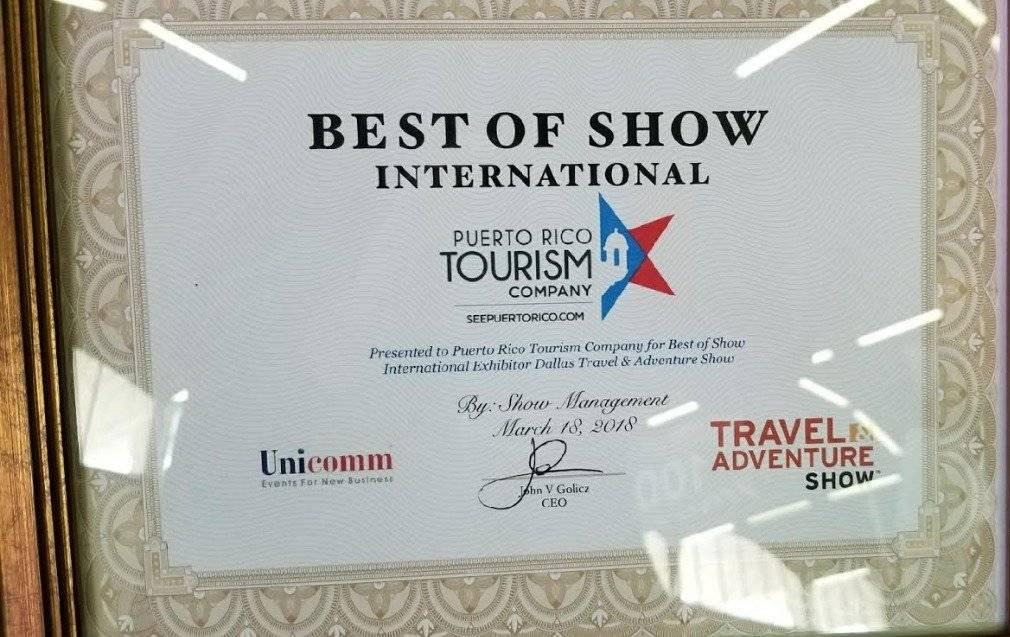 Turismo recibe premio al mejor exhibidor
