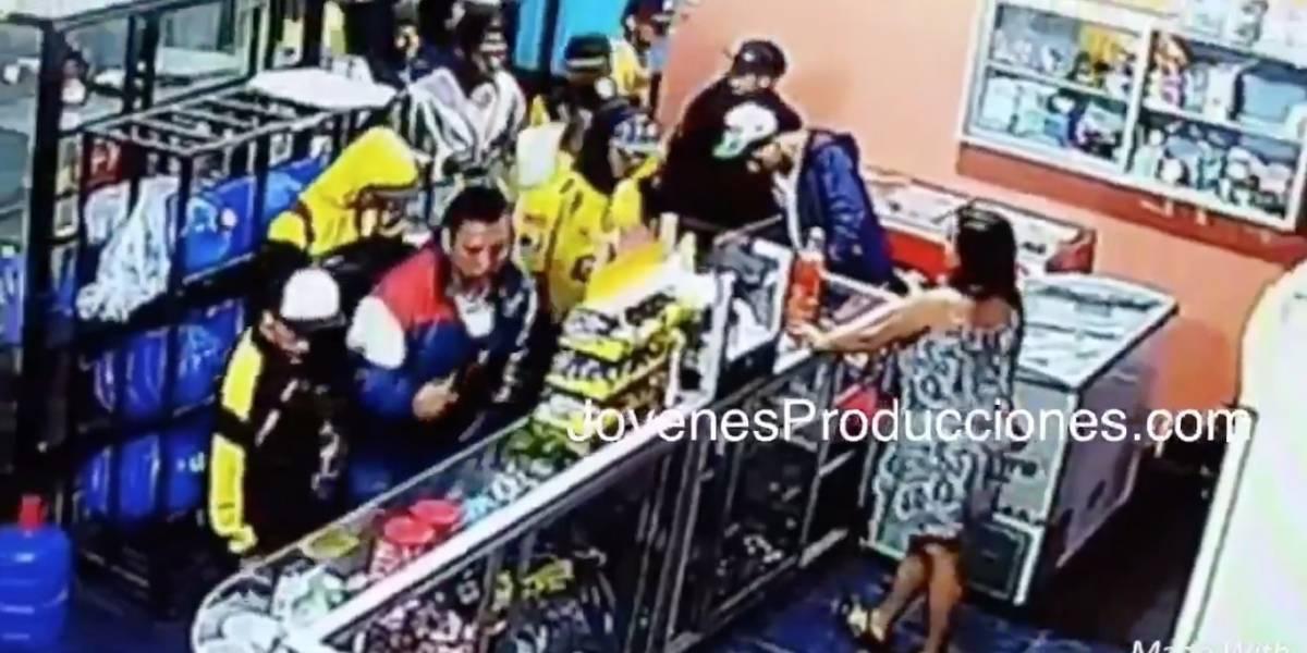 Video: Supuestos hinchas de Barcelona SC roban una gasolinera