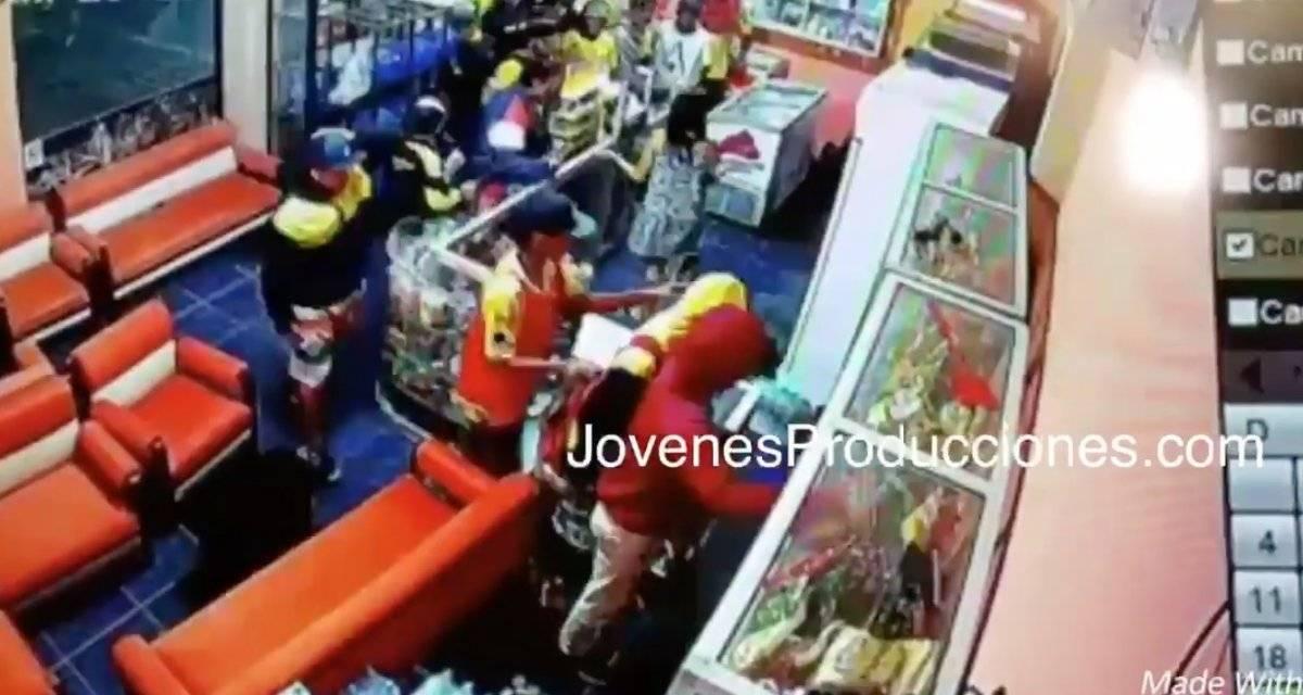 Facebook Video: Supuestos hinchas de Barcelona SC roban una gasolinera