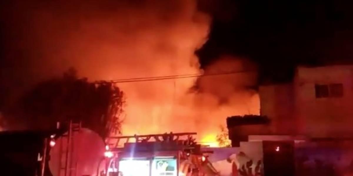 Se registra fuerte incendio en albergue indígena en Durango