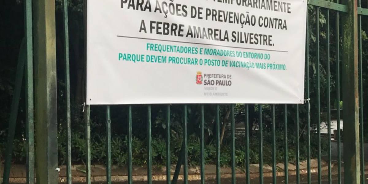 Febre amarela: quase 30 parques estão fechados em SP; veja quando eles reabrem