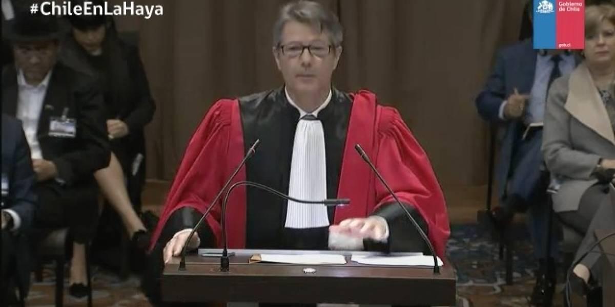 """Jurista francés desenmascara intención boliviana: """"Bolivia no tiene reivindicación alguna que hacer valer, sino una aspiración"""""""