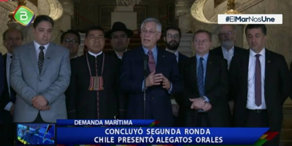 Tono conciliador de la delegación boliviana al final de la dúplica chilena