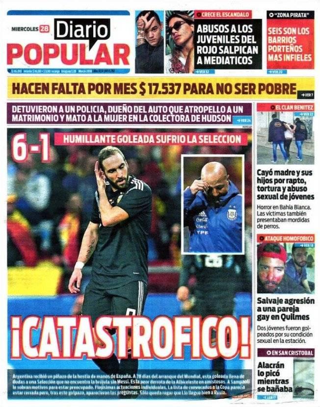 Las portadas de Argentina y España