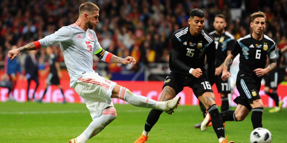 """Sergio Ramos minimiza a Argentina tras humillarla: """"Sin Messi pierden un porcentaje alto de nivel"""""""