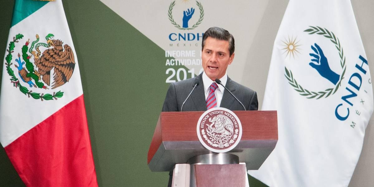 Peña Nieto encabeza el Informe Anual del presidente de la CNDH