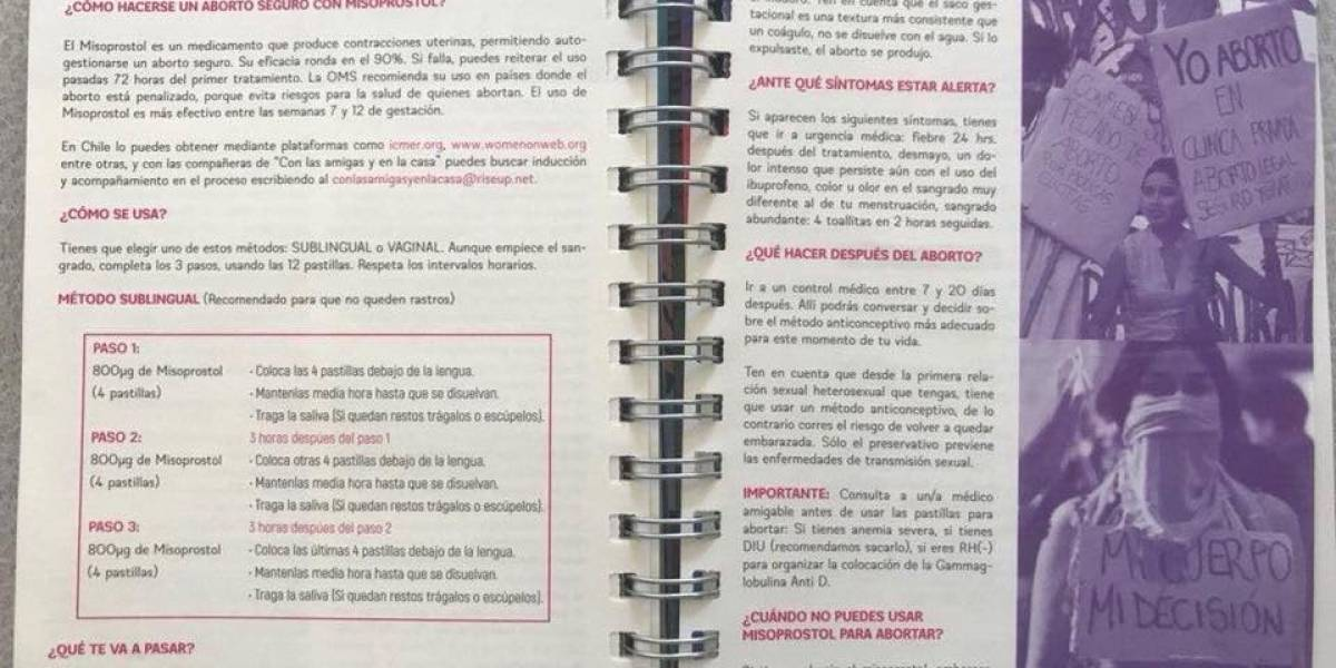 """El origen del polémico manual sobre aborto en libreta Fech: """"hace años que las estudiantes lo hacen"""""""