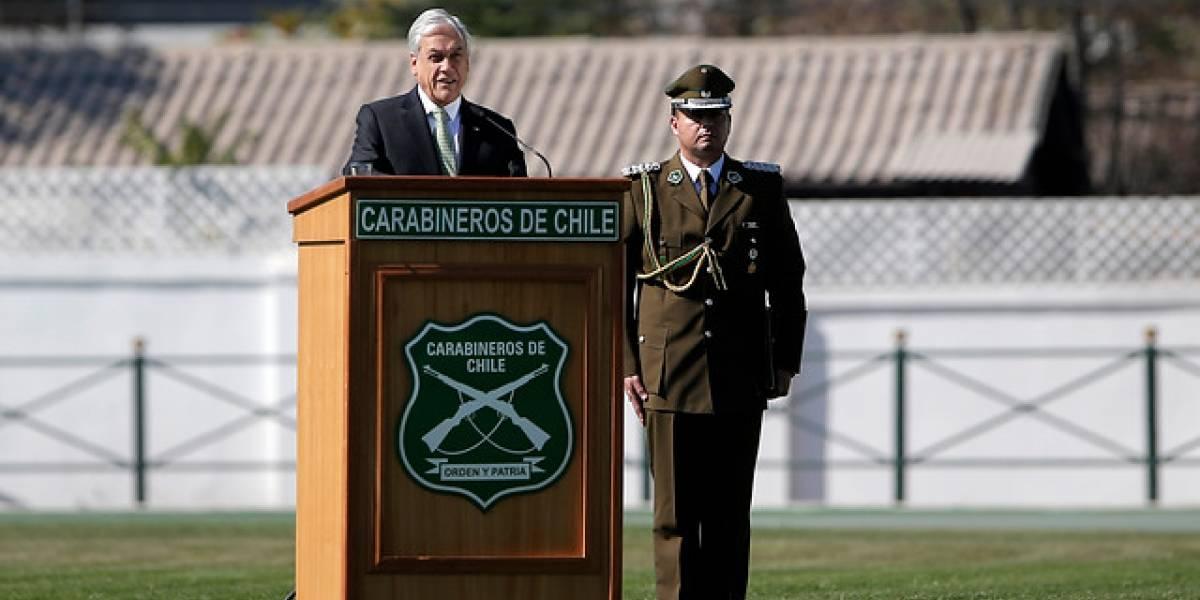 """Piñera: """"Sabemos que el daño causado a Carabineros es profundo, pero reparable"""""""