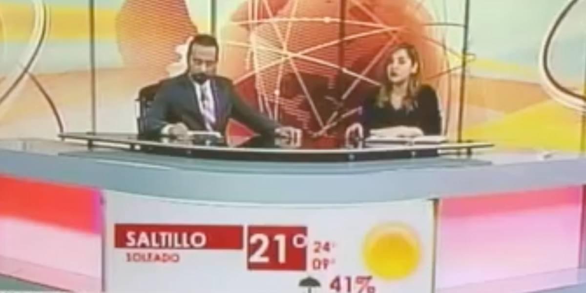 VIDEO. Famoso presentador de noticias mexicano cayó en broma de gemido sexual