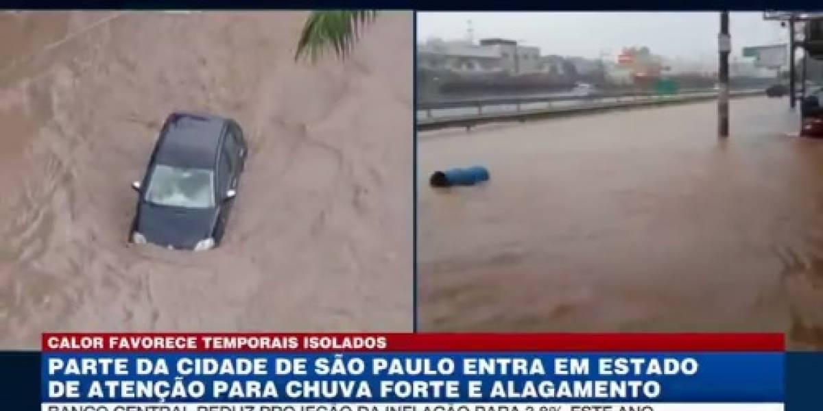 Chuva provoca estragos em São Paulo; assista