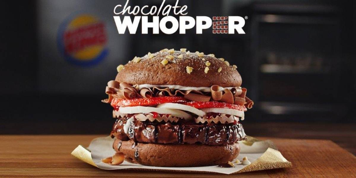 Burger King lanza Whopper de chocolate