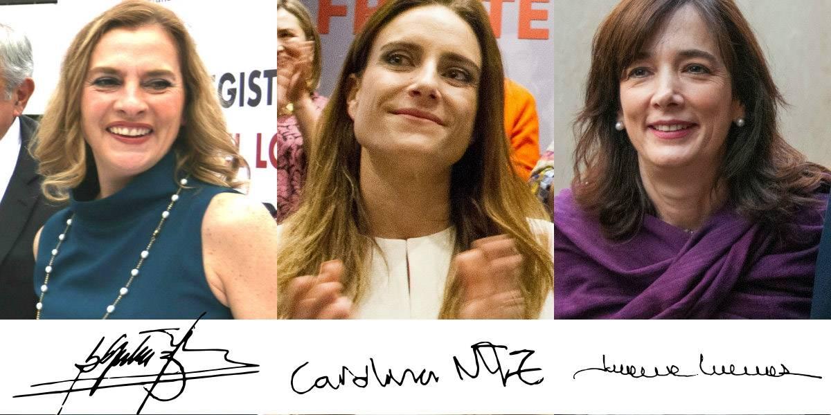 ¿Qué dicen las firmas de las esposas de presidenciables?