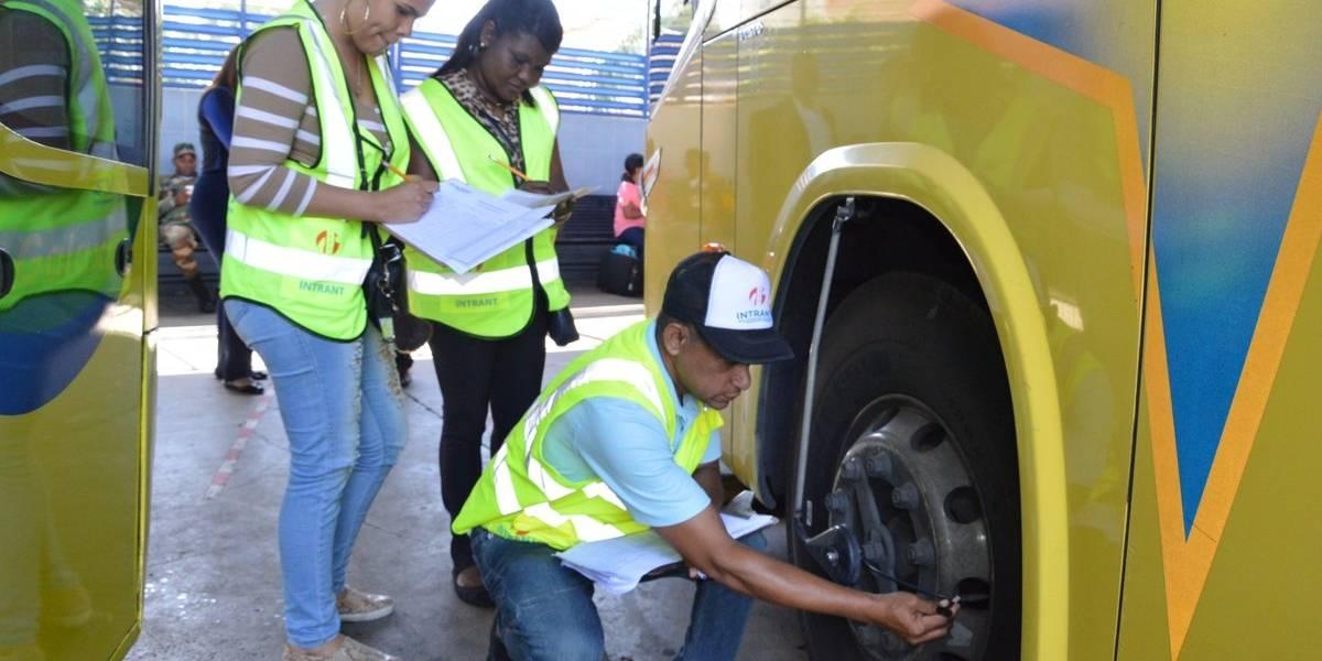 Intrant realiza inspección en paradas del transporte por la Semana Santa