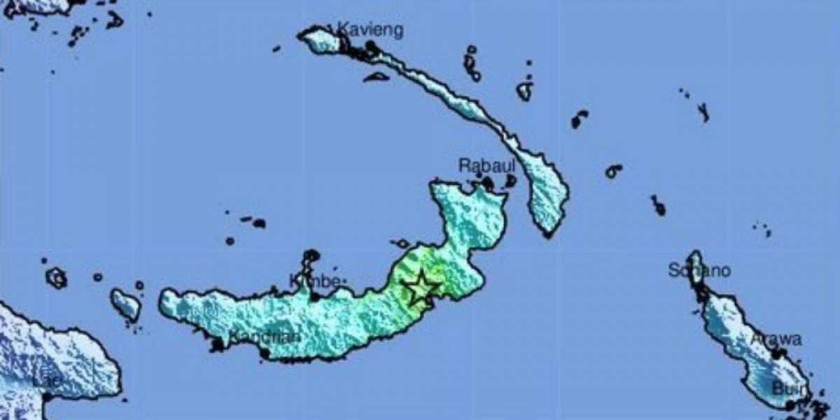 Un terremoto de 6.9 grados sacude Nueva Guinea