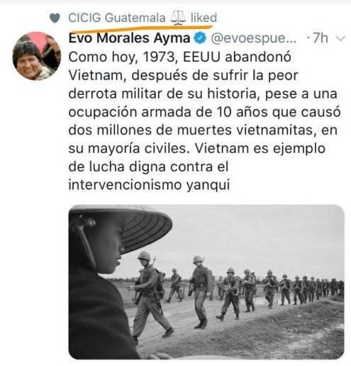tuit de Evo Morales