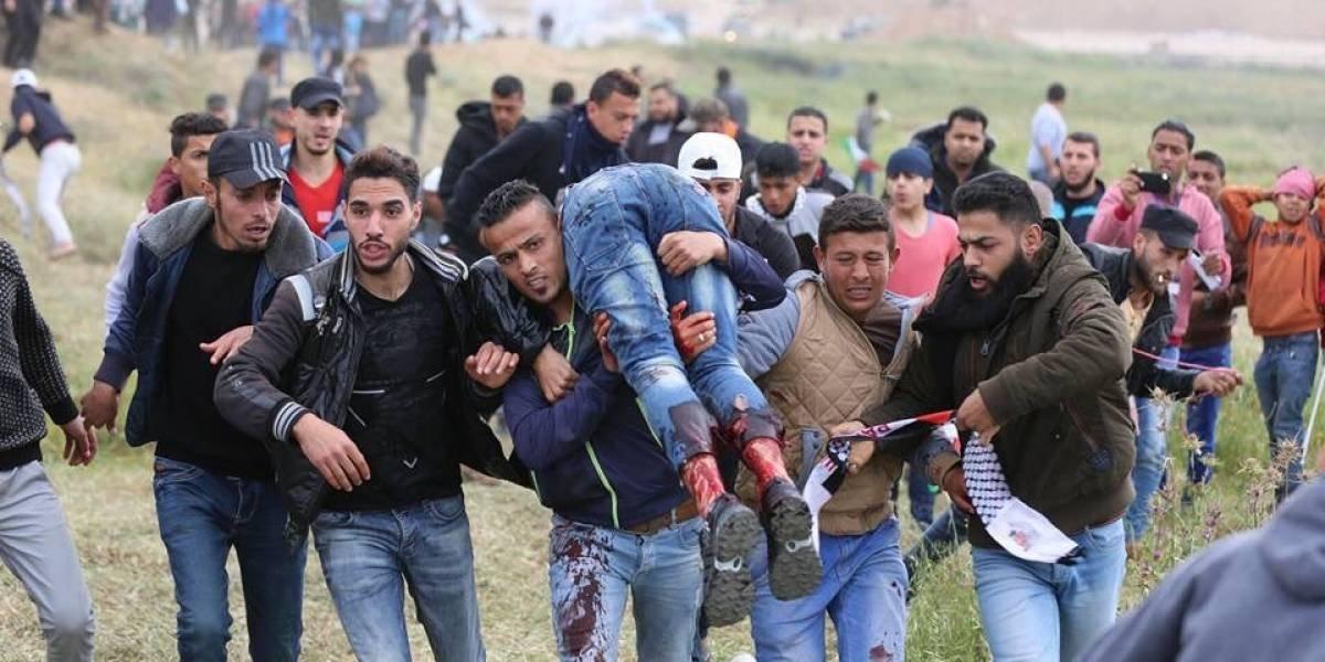 Soldados israelíes matan a 6 palestinos y hieren a otros 500