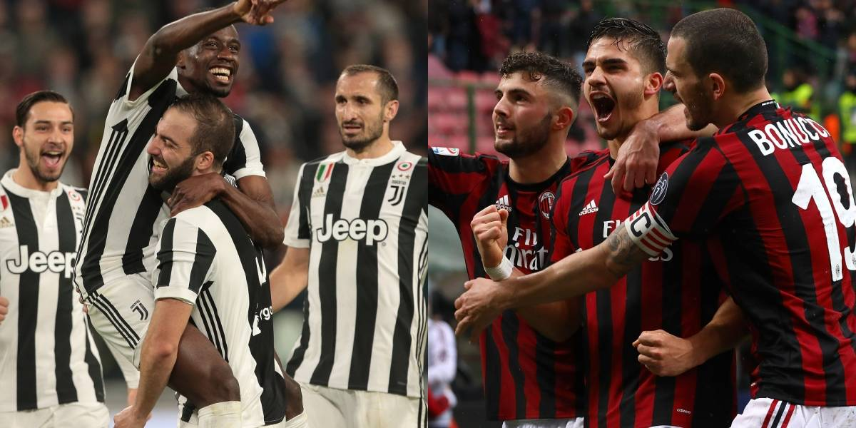 Juventus VS AC Milan enciende los flashes en esta jornada europea