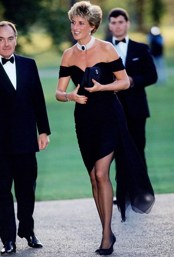 Lady Di, Príncipe Carlos, Vestido Negro,