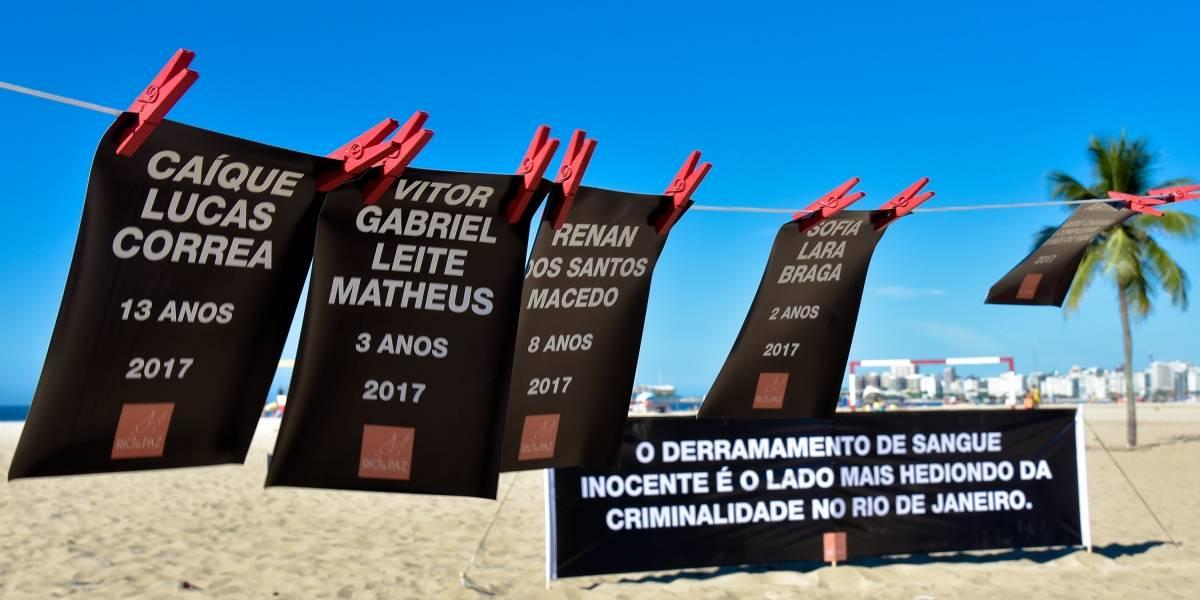 Ato em Copacabana lembra crianças vítimas de violência