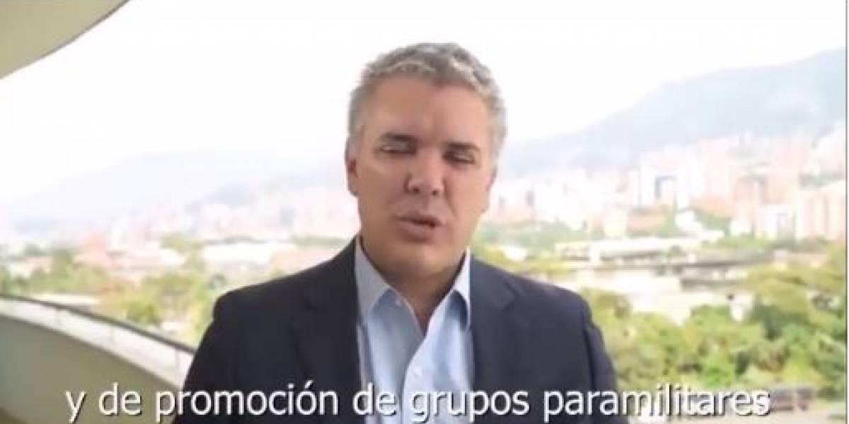 El falso video donde Duque ataca a Uribe