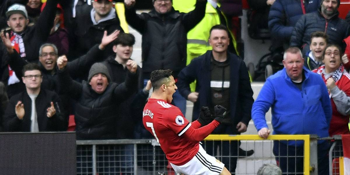 Y llegó el día: Alexis Sánchez le puso fin a su sequía goleadora en el United con una gran definición