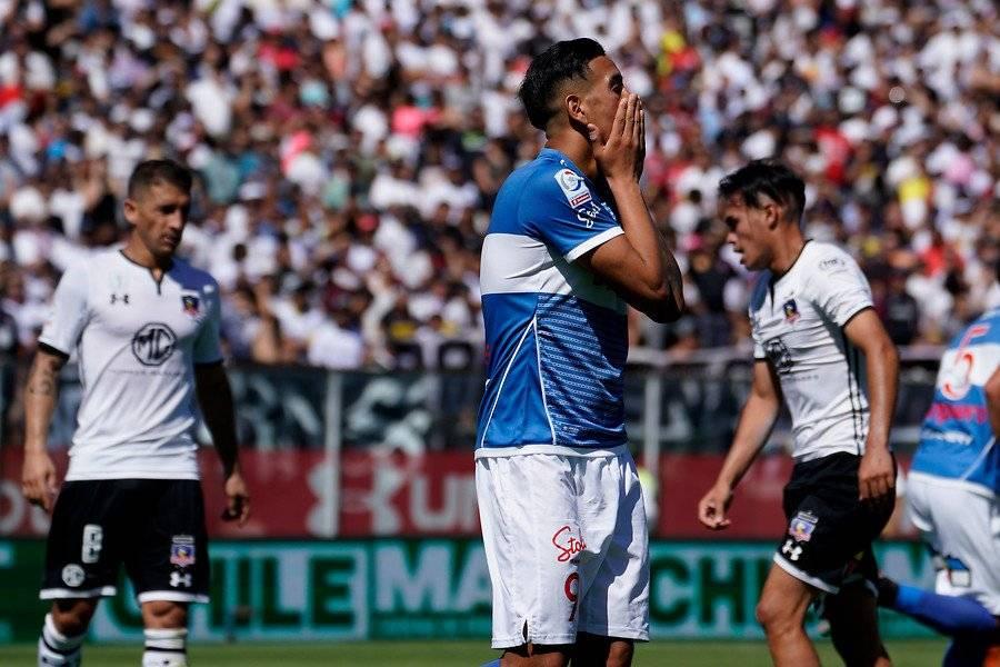Vilches tuvo una clara para empatar sobre el final / Foto: Agencia UNO