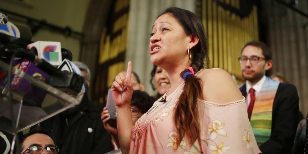 Guatemalteca que se refugia en iglesia de Nueva York le envía mensaje a Trump
