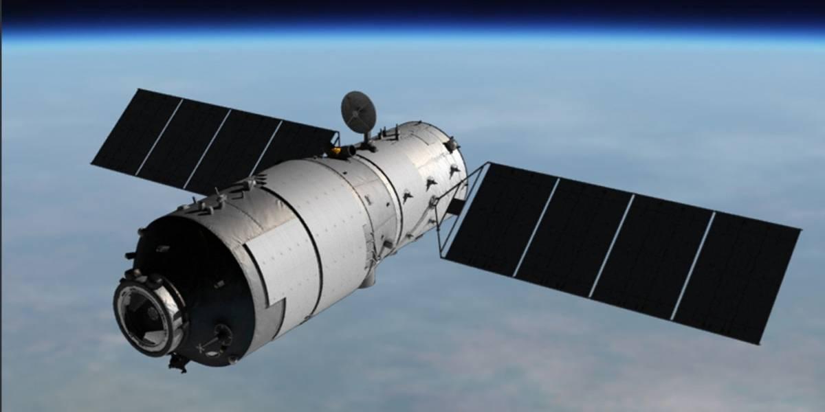 Un telescopio capta la estación espacial china mientras se precipita contra la Tierra