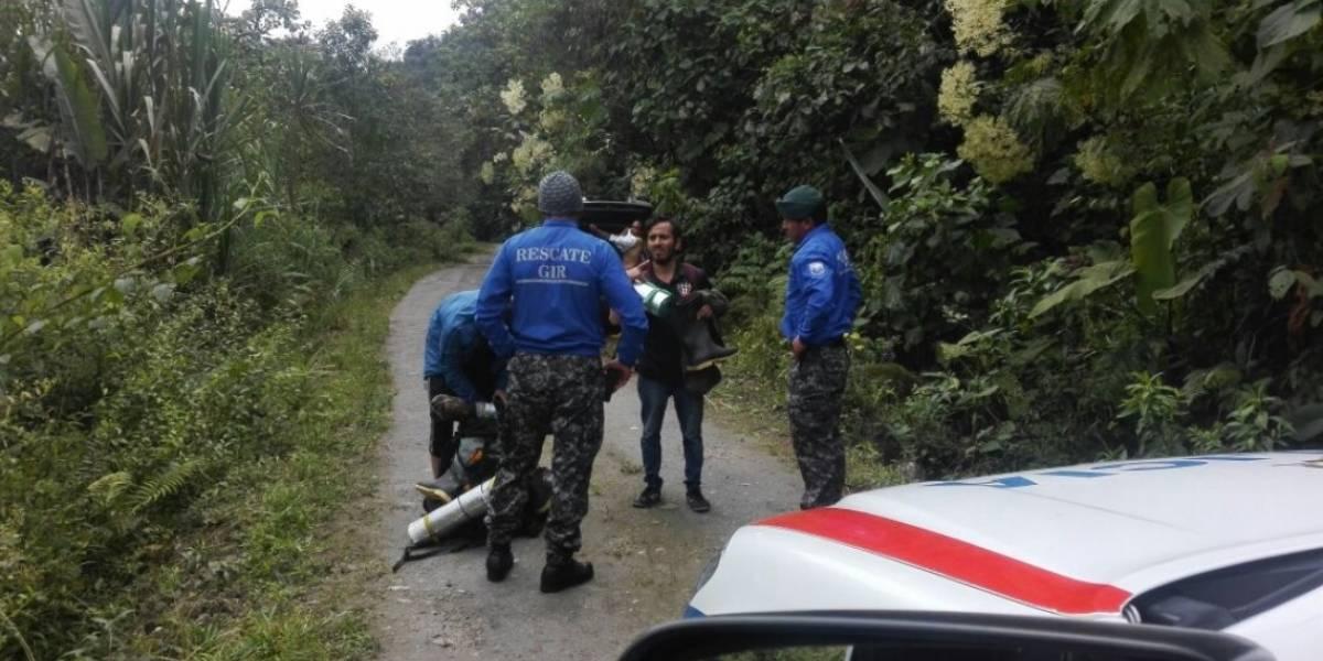 Rescatan a 4 personas extraviadas en Lloa