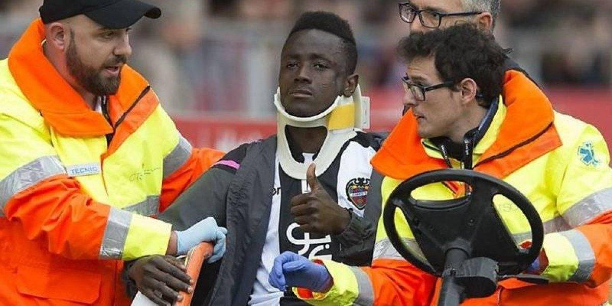 Emmanuel Boateng sufre terrible lesión en el rostro