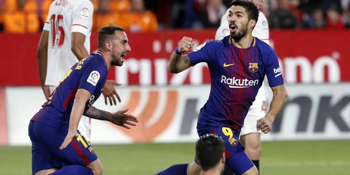 Barcelona consiguió un agónico empate ante Sevilla y salvó su invicto en España