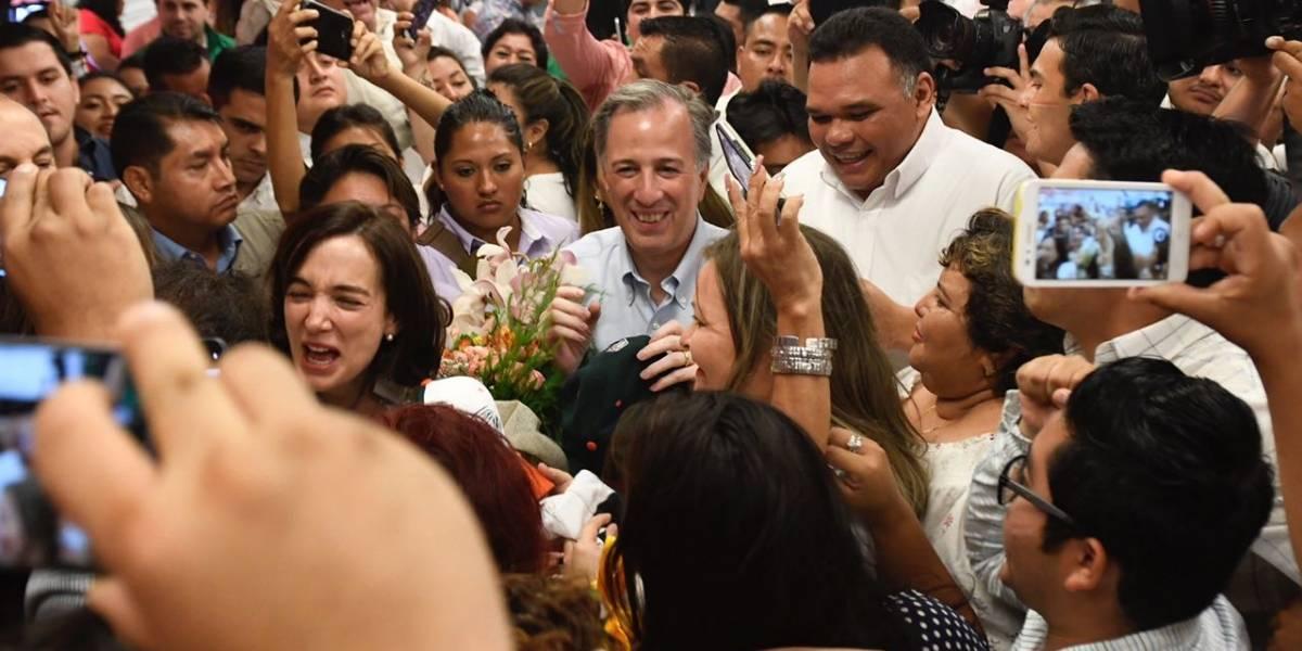 Al ritmo de batucada, reciben a José Antonio Meade en Mérida