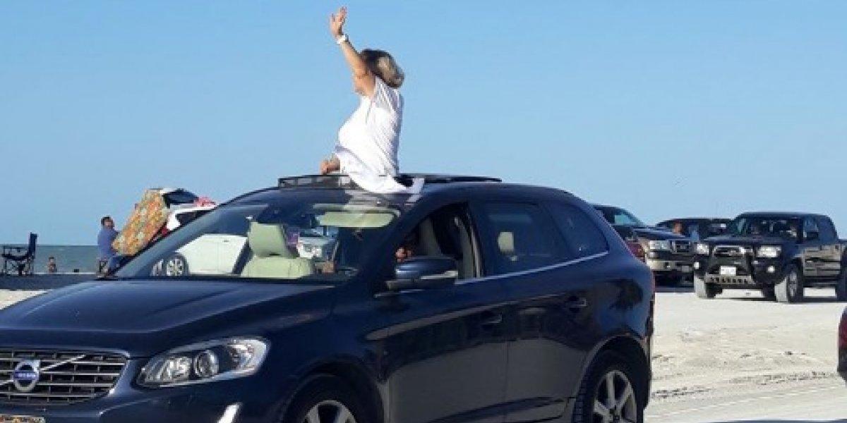 Candidata de Morena inicia campaña en vehículo de lujo