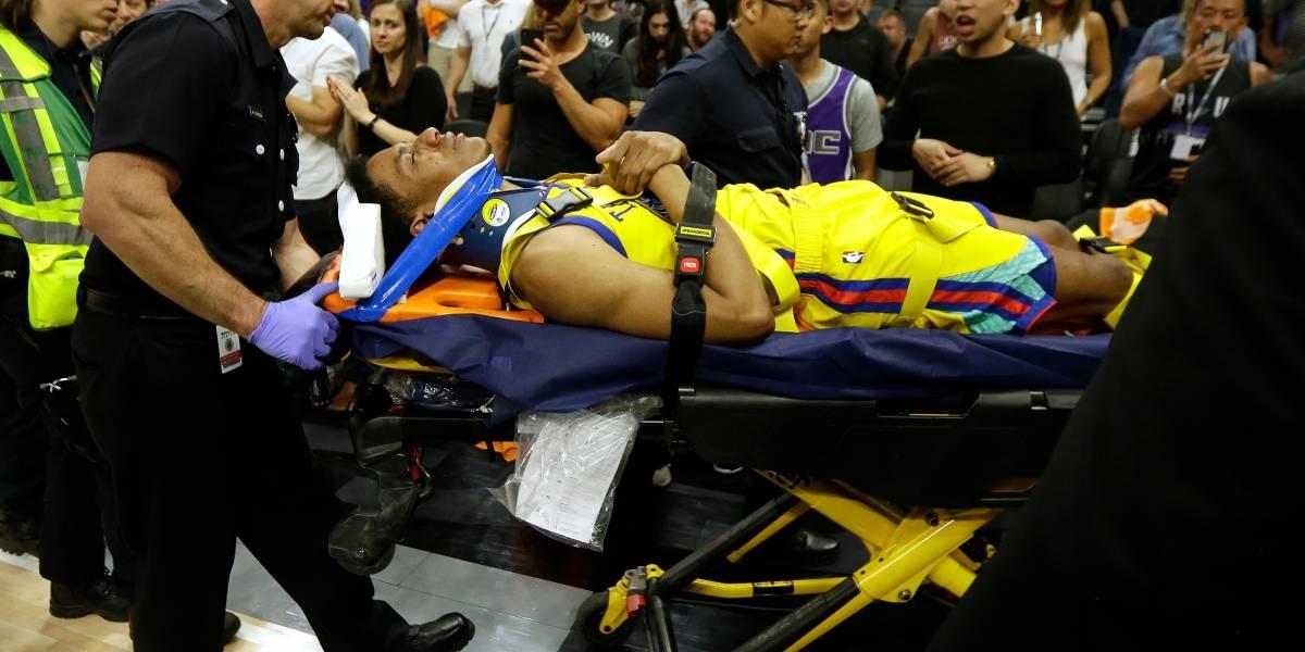 La escalofriante caída de un jugador de la NBA