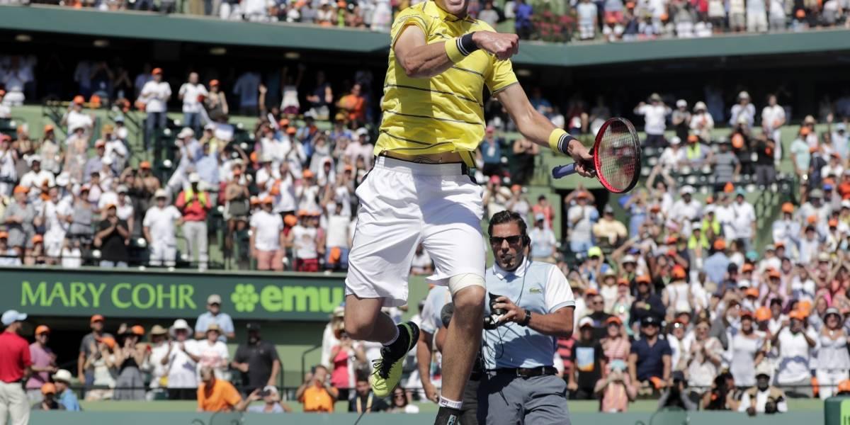 John Isner da el golpe y conquista en Miami el primer Masters 1.000 de su carrera