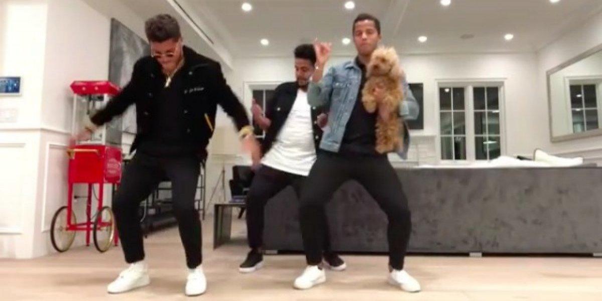 VIDEO: Los hermanos dos Santos demuestran su talento para bailar