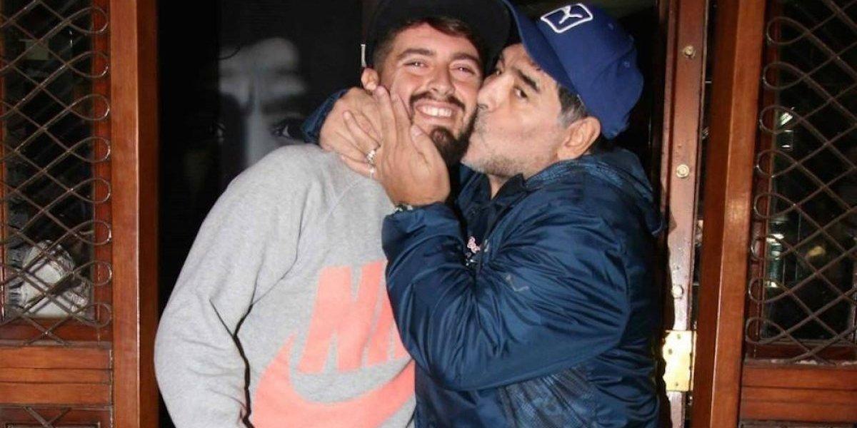 Maradona presume nacimiento de su nieto, hijo de Diego Jr.