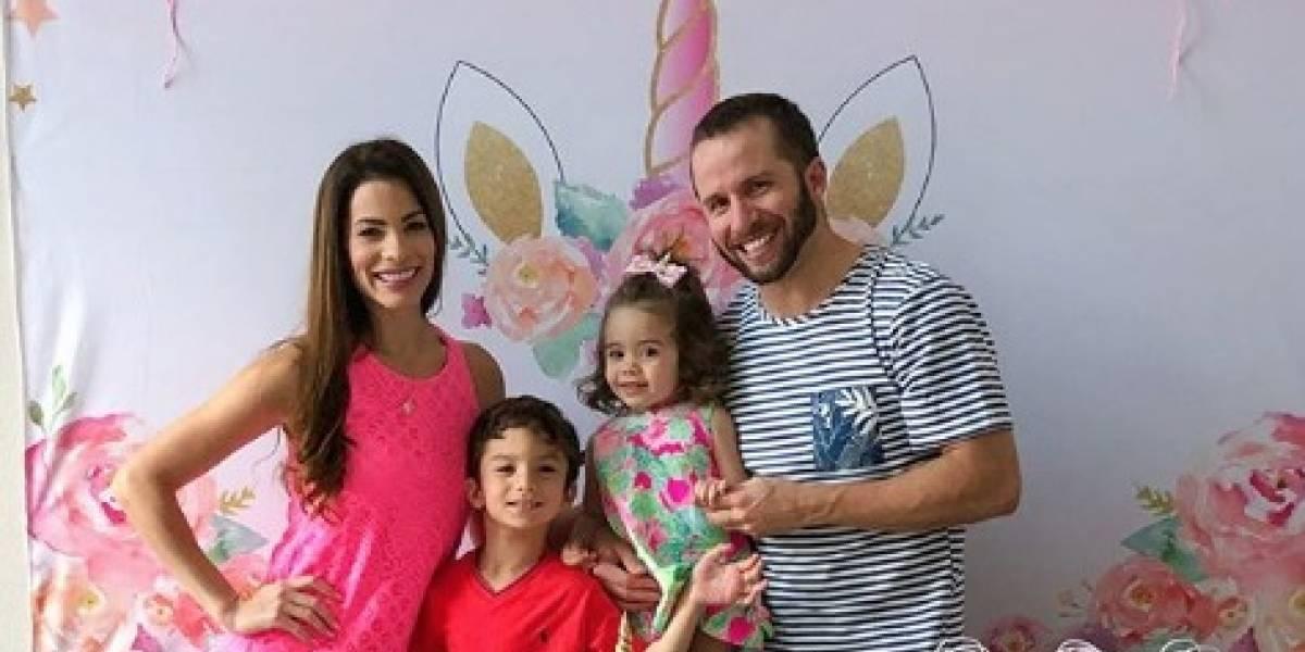 Viviana y Barea celebran el cumpleaños de su hija