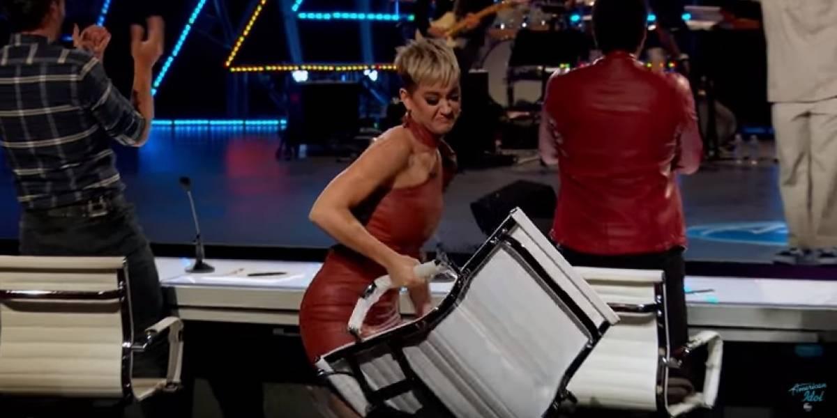 Katy Perry tem reação inusitada após apresentação no American Idol