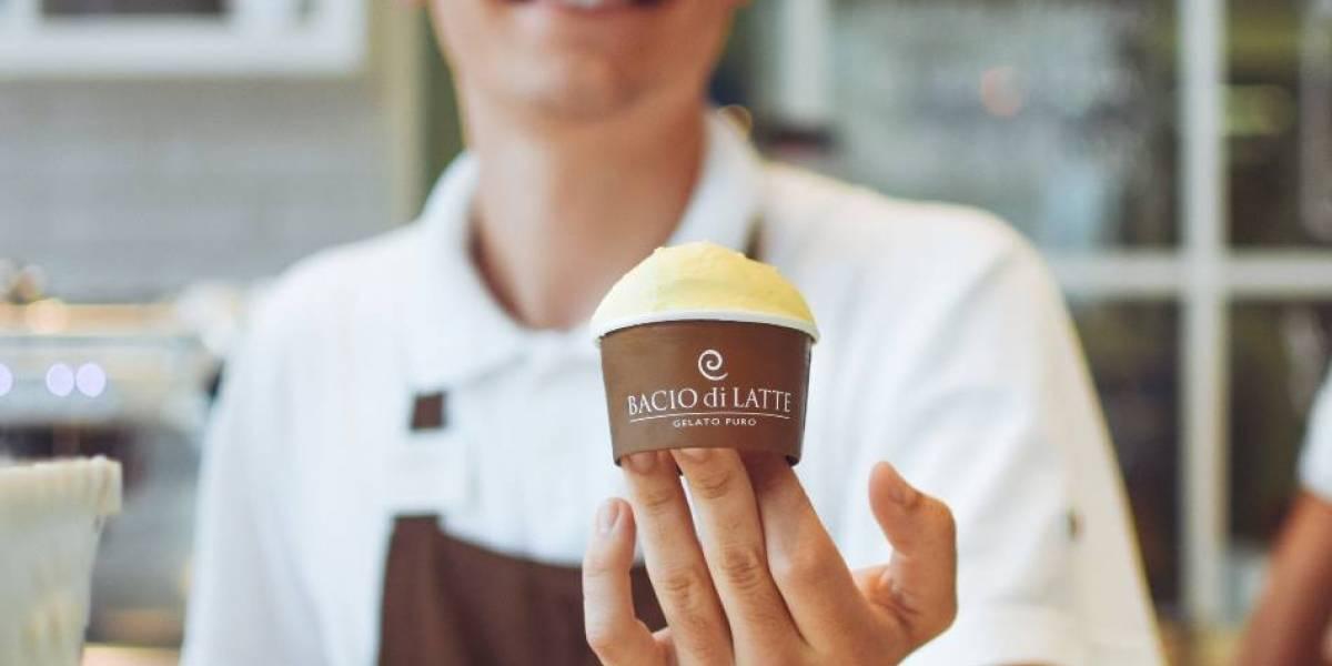 Bacio di Latte está oferecendo sorvete de graça em dias quentes